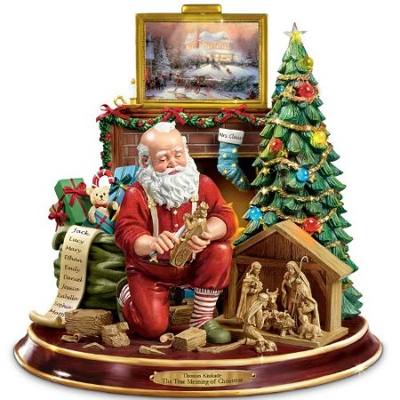 - Thomas Kinkade The True Meaning Of Christmas Tabletop Centerpiece by The Bradford Exchange