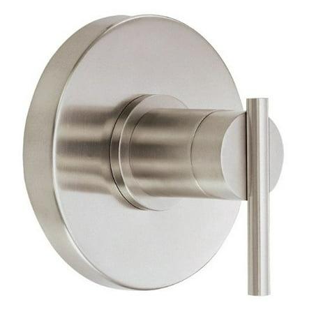 Brushed Nickel Pressure Balance - Danze D510458BNT Parma Single Handle Pressure Balance Valve Trim Kit, Valve Not Included, Brushed Nickel
