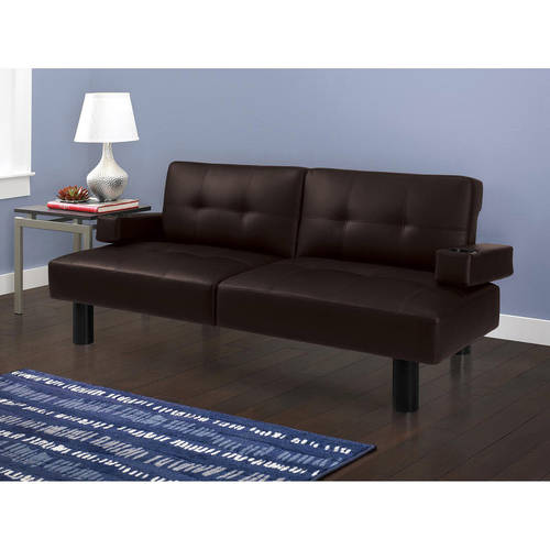 $224 99 Jaclyn Smith Dylan Futon with Built in Cup Holder and Tray dealepic