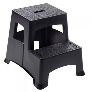 farm ranch 2 step plastic step stool textured steps black by farm ranch ship from us. Black Bedroom Furniture Sets. Home Design Ideas