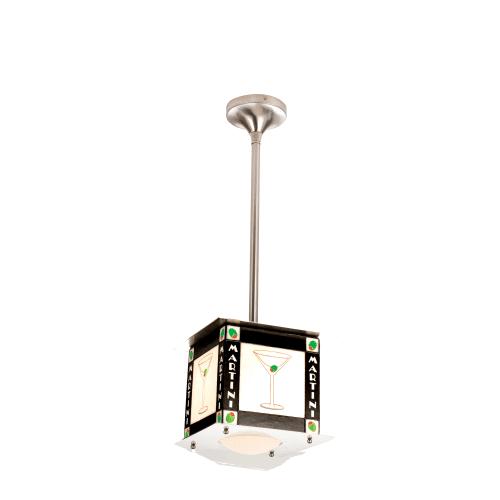 "Meyda Tiffany 15120 10"" Square Martini Pendant by Meyda Tiffany"