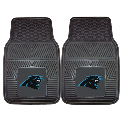 "Carolina Panthers 2-pc Vinyl Car Mats 17""x27"""
