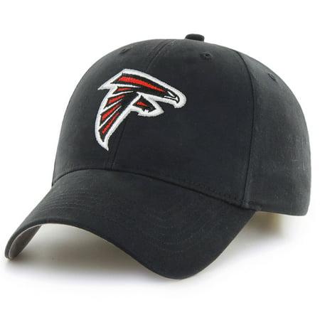 Men's Black Atlanta Falcons Mass Basic Adjustable Hat - OSFA