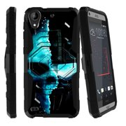 HTC Desire 530 Case | HTC Desire 630 Case [ Armor Reloaded ] Extreme Rugged Protection Case with Holster and Built In Kickstand - Cyborg Robot