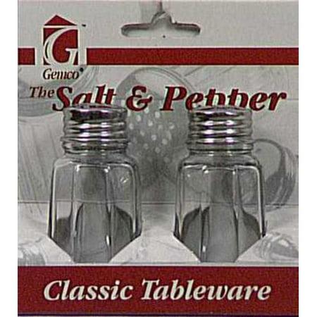Lifetime 5078608 Salt   Pepper Set  1 Oz  Clear Glass