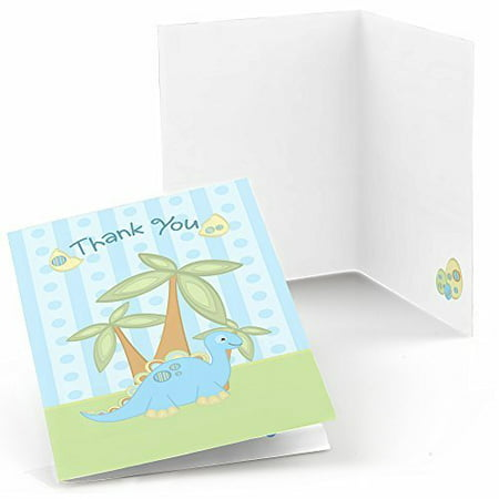 baby dinosaur baby shower or birthday party thank you cards 8 count
