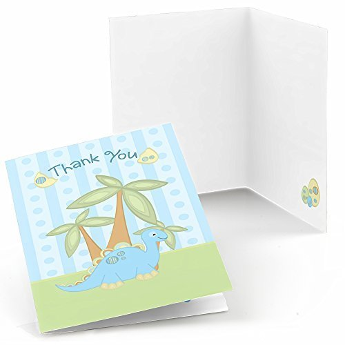 Baby Dinosaur - Baby Shower or Birthday Party Thank You Cards (8 count)