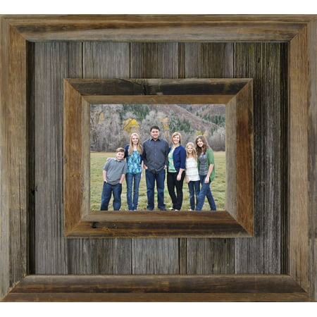 AllBarnWood Durango- Reclaimed Wood Picture Frame, Unique Weathered Rustic Western Photo Frames, small 4x6.