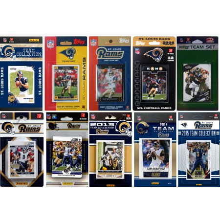 C&I Collectables NFL St. Louis Rams 10 Different Licensed Trading Card Team Sets by