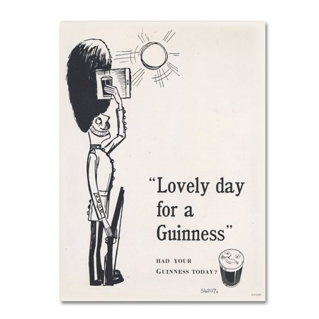"""Trademark Fine Art """"Lovely Day For A Guinness I"""" Canvas Art by Guinness Brewery"""
