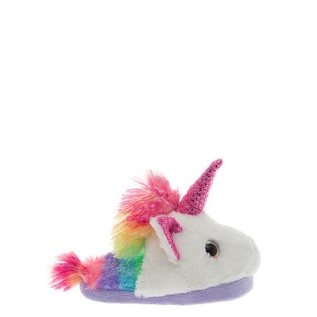 Wonder Nation Missy Girl Unicorn Slipper (Slippers For Little Girls)