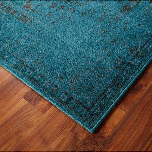 Style Haven Distressed Traditional Teal Grey Area Rug 6