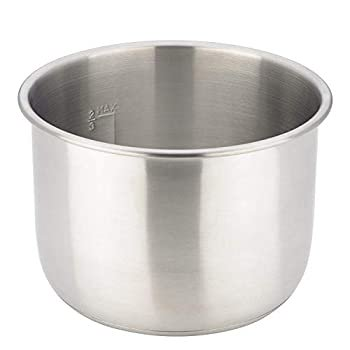 Replacement Stainless Steel Inner Pot Compatible with 8-Quart Power Quick Pot Multi- Use Programmable Pressure Cooker Model Y8D-36 (Stainless Steel, 8 Quart)