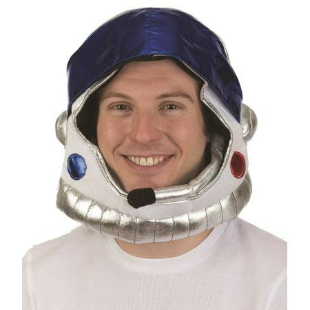 Plush Astronaut Space Helmet Nasa Soft Hat Mask Adult Costume Accessory