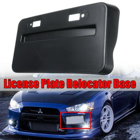 Front Bumper Side Mount License Base For 2008-2018 Mitsubishi Lancer GTS EVO (Evo Style Rear Bumper)