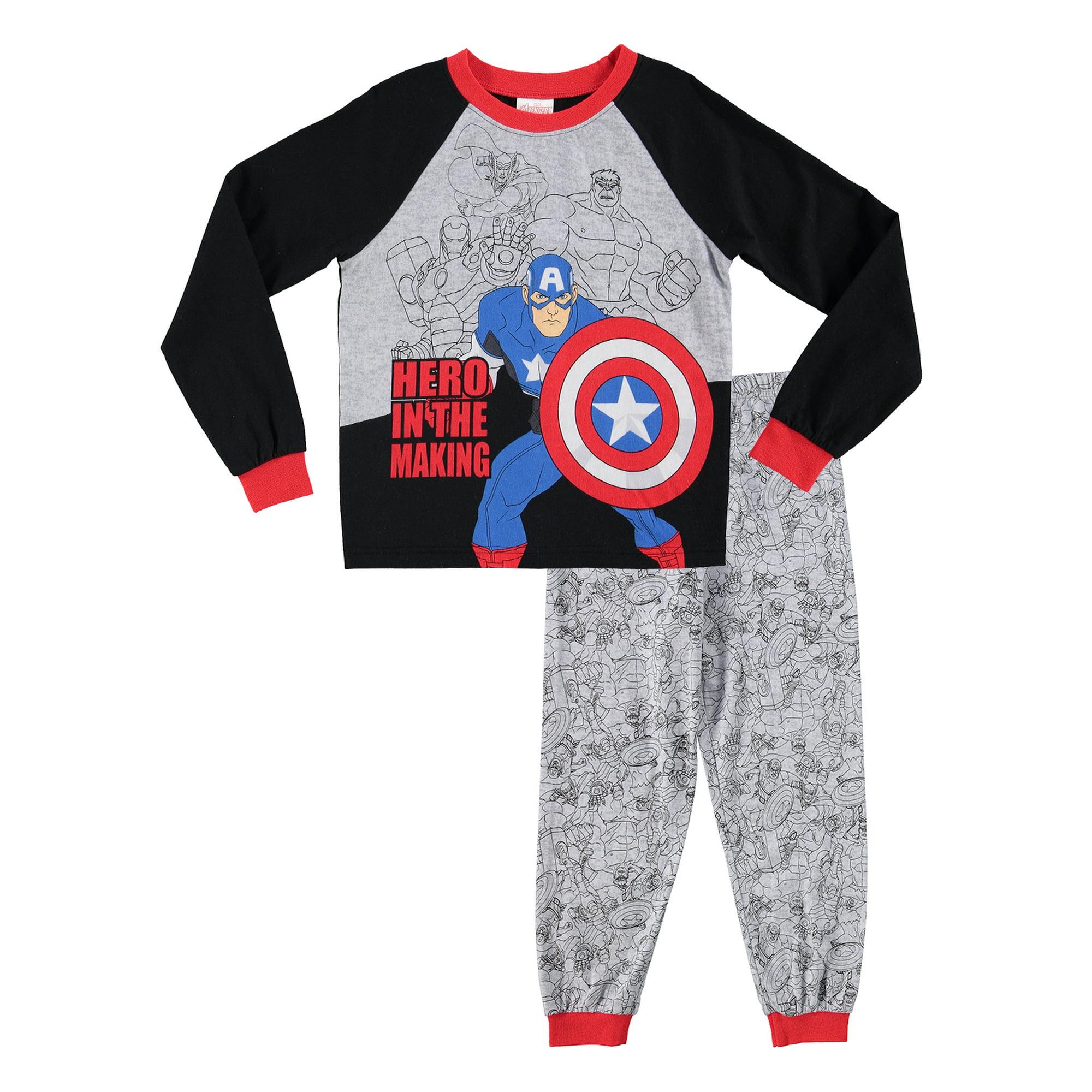 107610d9 Avengers Boys Sleepwear | Cotton Kids 2-Piece Pajama Set - 6