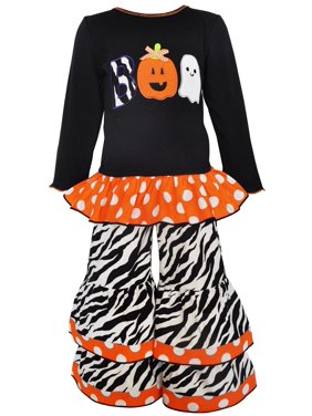 c5161cc13da0 Product Image AnnLoren Girls Halloween Knit Tunic and Pant Set