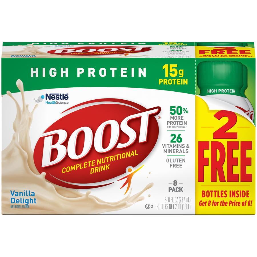 BOOST HIGH PROTEIN Vanilla Delight 8-8 fl. oz. Bottles