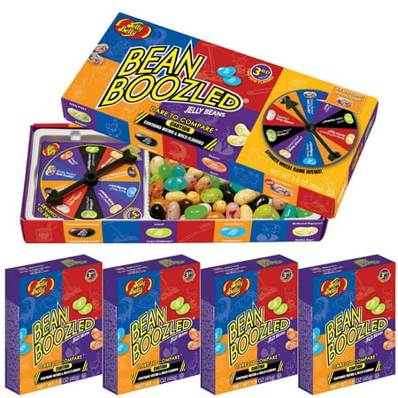 (Jelly Belly BeanBoozled Jelly Bean Game Box And 4 Pack Jelly Beans)