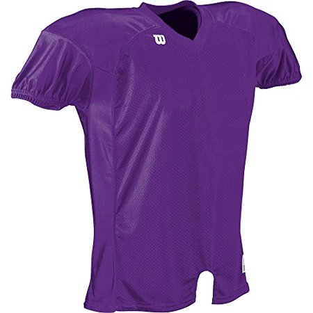 Wilson Youth Contour Fit Football Jersey, Purple, MD Wilson V-neck Jersey