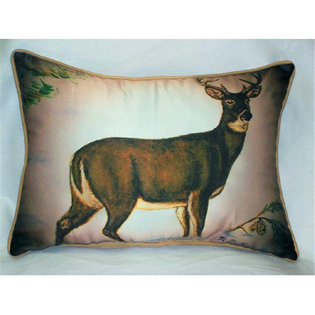Betsy Drake HJ236 Deer in Snow Art Only Pillow 15''x22''