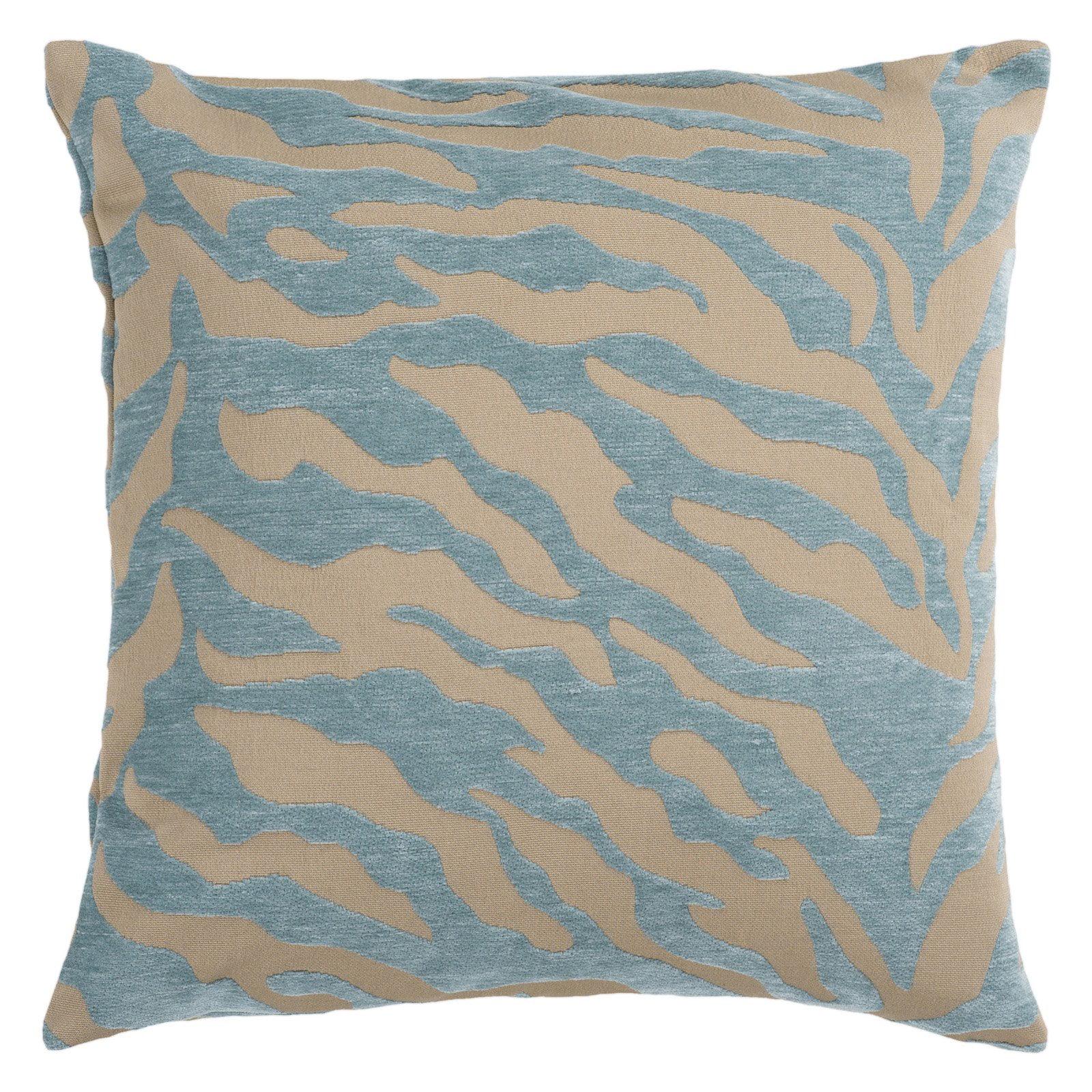 Surya Zebra Decorative Pillow Teal by Surya