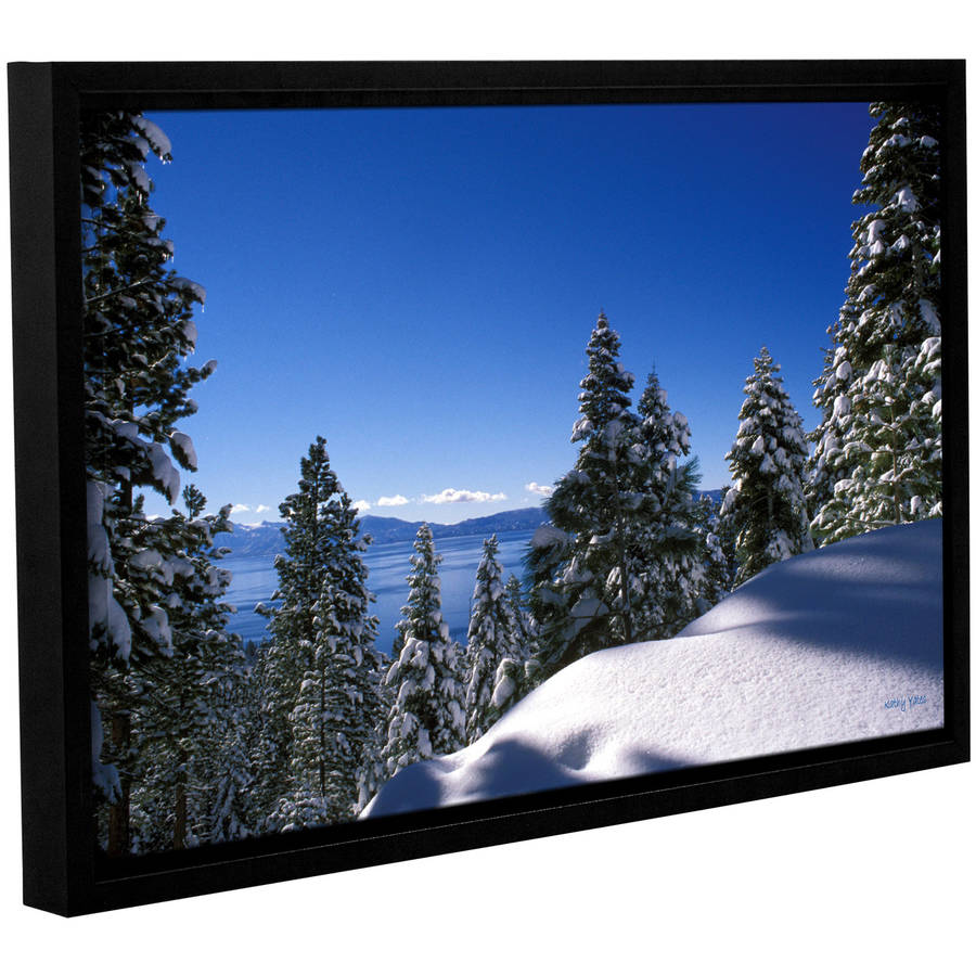 "Kathy Yates ""Lake Tahoe In Winter"" Floater-Framed Gallery-Wrapped Canvas"