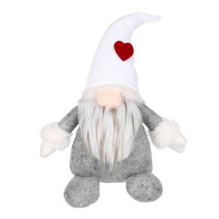Scandinavian Straw Ornaments (Mancro Swedish Santa Gnome Plush, Handmade Scandinavian Tomte Nordic Nisse Sockerbit Elf Dwarf Home Household Ornaments, Christmas Santa Decoration,White)