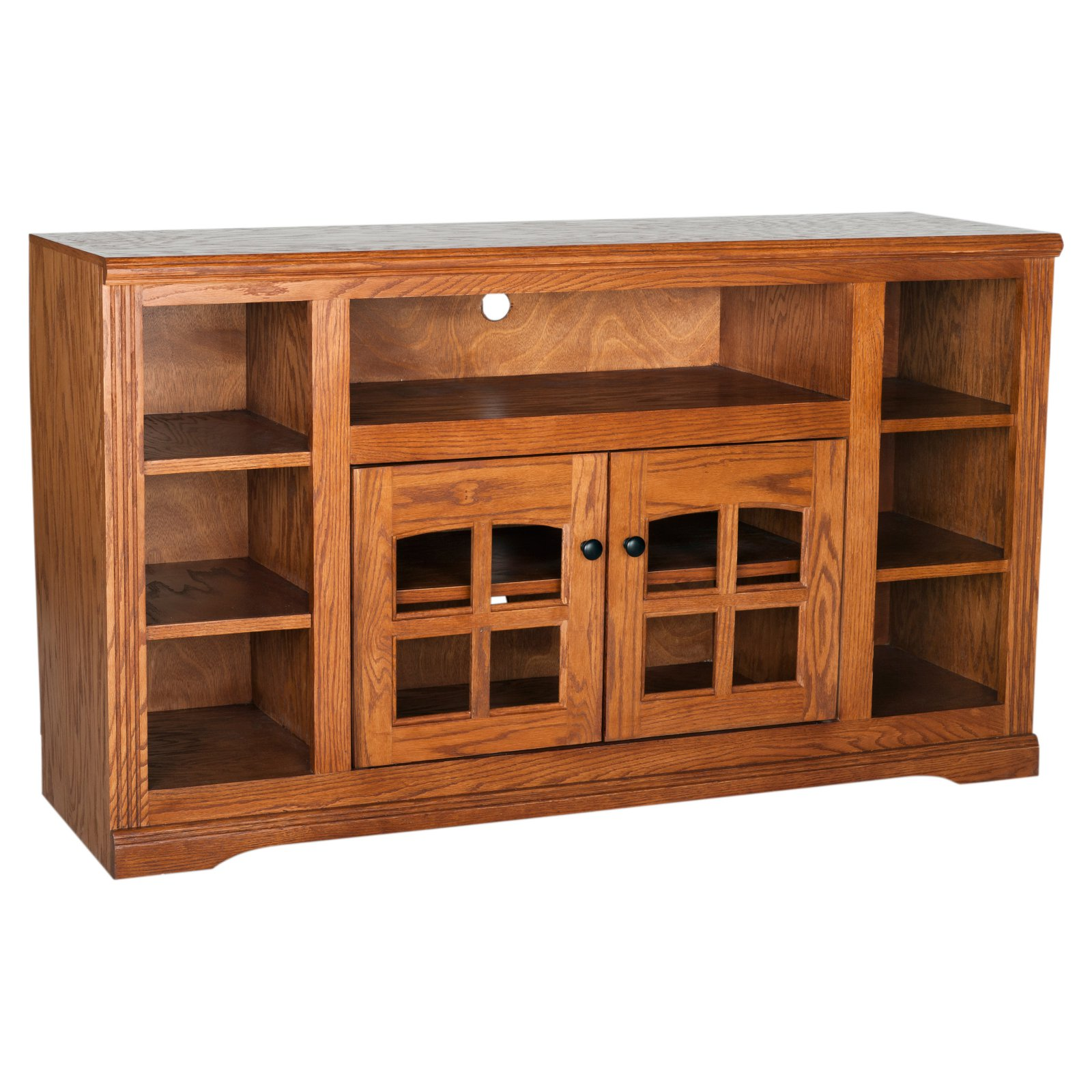 Eagle Furniture Oak Ridge 55 in. Plain Glass Thin-Screen TV Stand