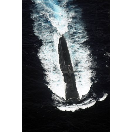LAMINATED POSTER Attack submarine USS Chicago (SSN 721) transits in formation during Malabar 2007, an exercise involv Poster Print 24 x 36 (Macy ' In Chicago)