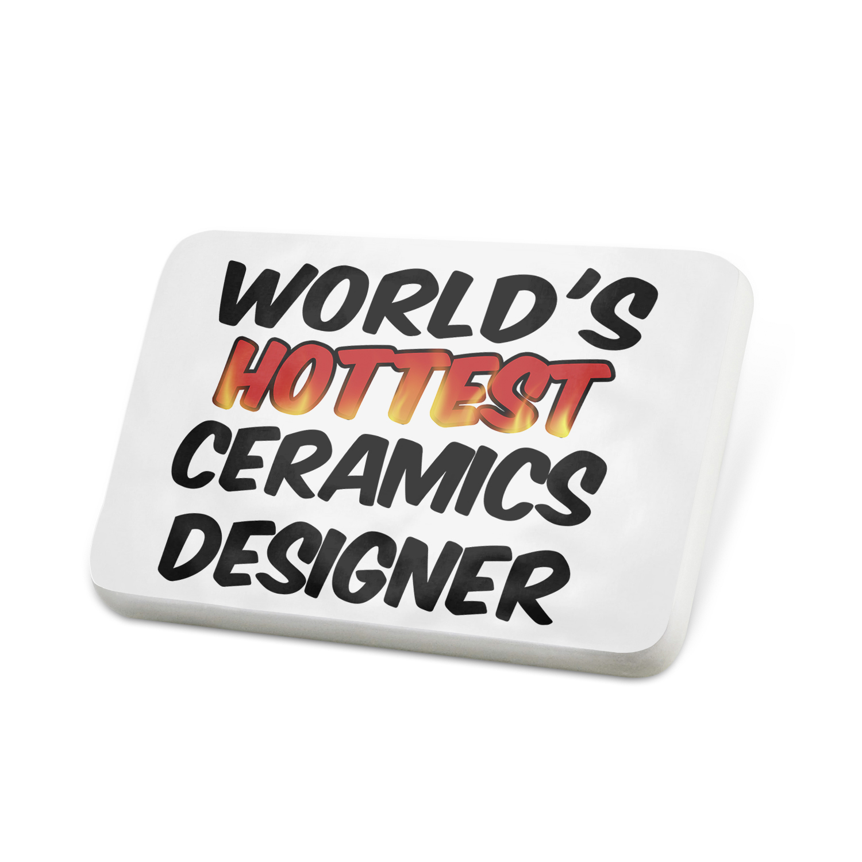 Porcelein Pin Worlds hottest Ceramics Designer Lapel Badge – NEONBLOND