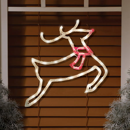 Reindeer Window (Lighted Reindeer Window Decoration )