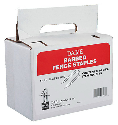 Dare Products 2415 Electric Fence Barbed Staples, 1-3/4-In., 10-Pk.