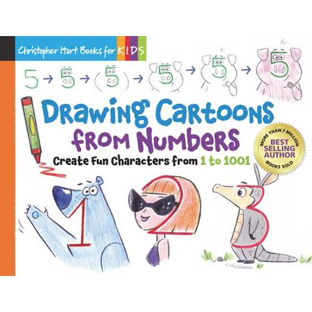 Drawing Cartoons from Numbers : Create Fun Characters from 1 to 1001 - Drawing Of Cartoons