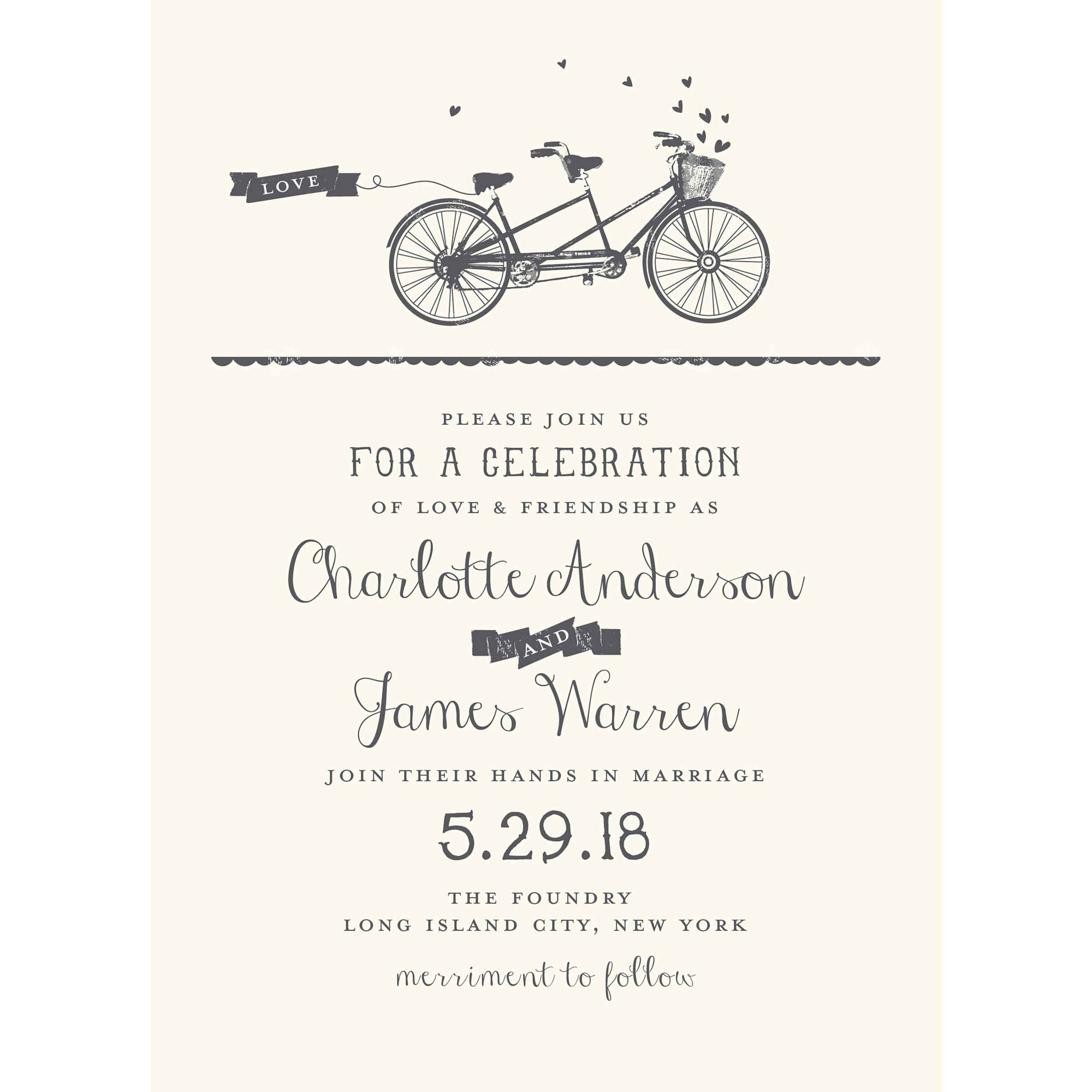 Our Journey Together Standard Wedding Invitation