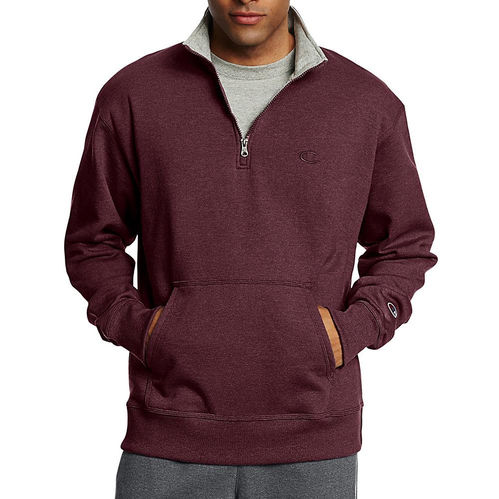 NEW Maroon Red Mens Size 2XL Pullover Half Zip Fleece Jacket