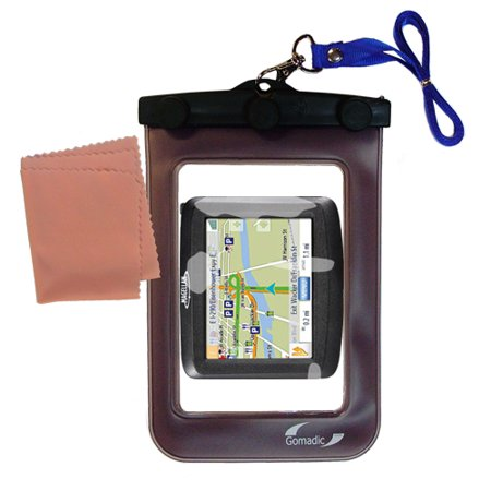Gomadic Clean and Dry Waterproof Protective Case Suitablefor the Magellan Roadmate 1200 to use - Roadmate Case