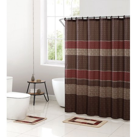 Mainstays Medici 15-Piece Shower Curtain Bath Set