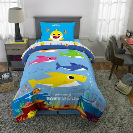 Baby Shark Kids Bed in a Bag Bedding Set, Shark Family - Walmart Exclusive! ()
