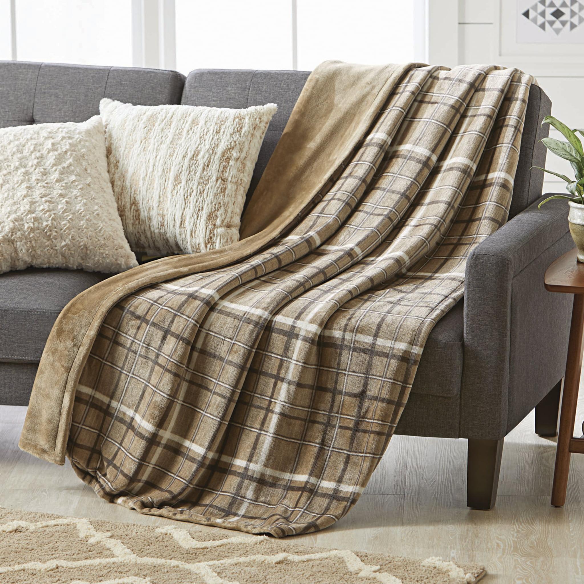 Better Homes and Gardens Oversize Reversible Velvet Plush Throw Blanket