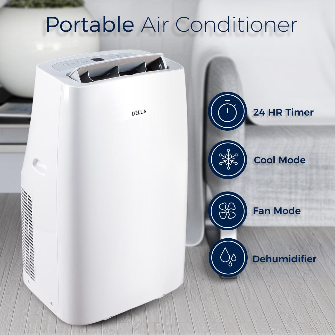 Dehumidifier Bags Walmart della 14,000 btu portable air conditioner cool fan quiet
