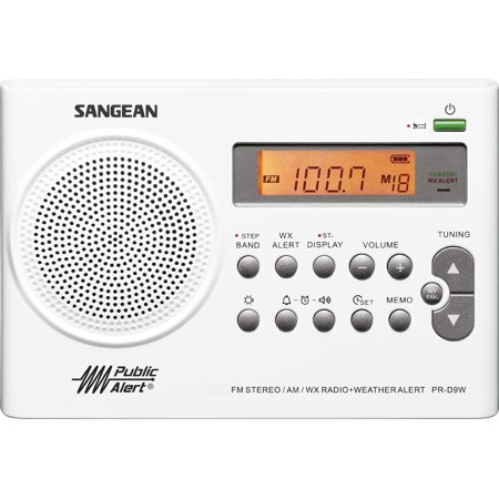 Sangean Weather Alert Portable Digital AM/FM Radio with Built-in Speaker Plus 6ft Aux Cable to Connect Any Ipod, Iphone or Mp3 Digital Audio (Fm Radio App For Iphone Without Internet)