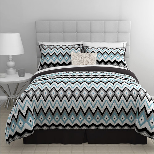 East End Living Zig Zag 5-Piece Bedding Comforter Set