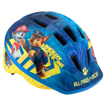 Nickelodeon PAW Patrol Toddler Bicycle Helmet, ages 3 - 5, blue / yellow