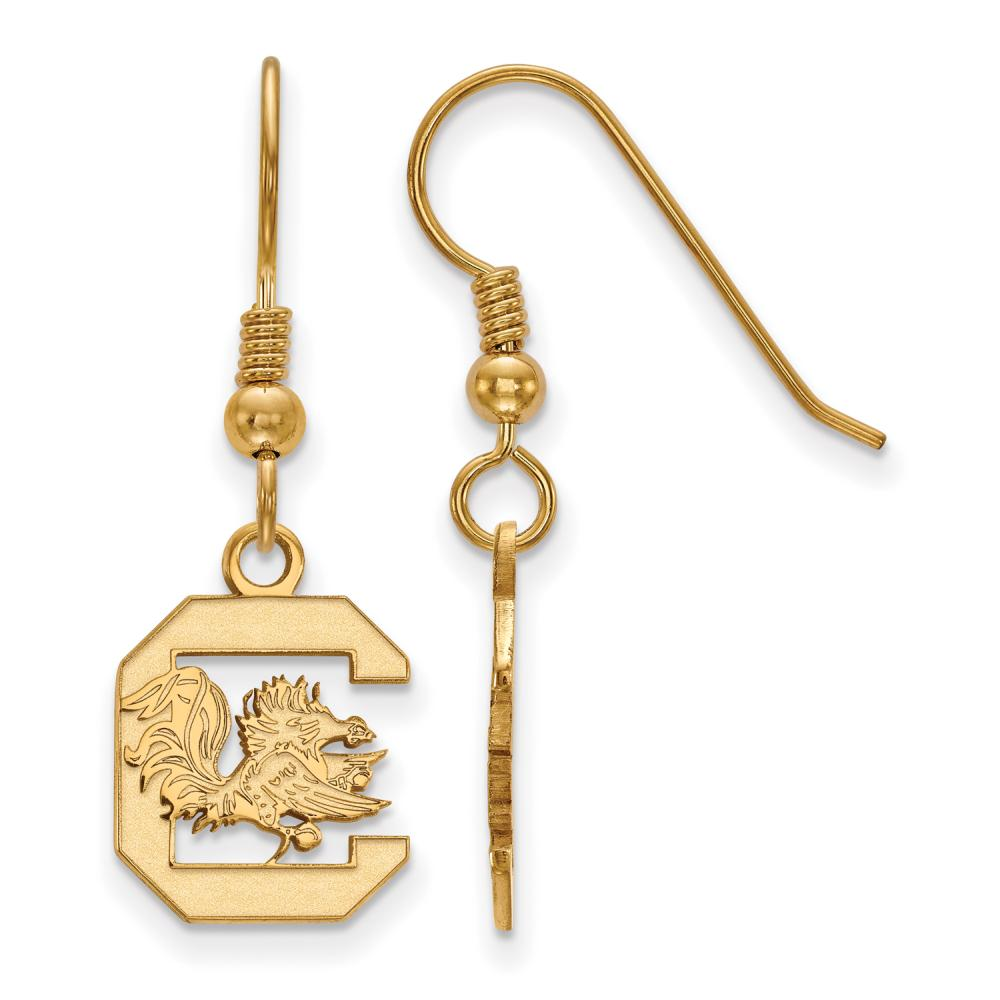 South Carolina Small (1/2 Inch) Dangle Earrings Wire (Gold Plated)