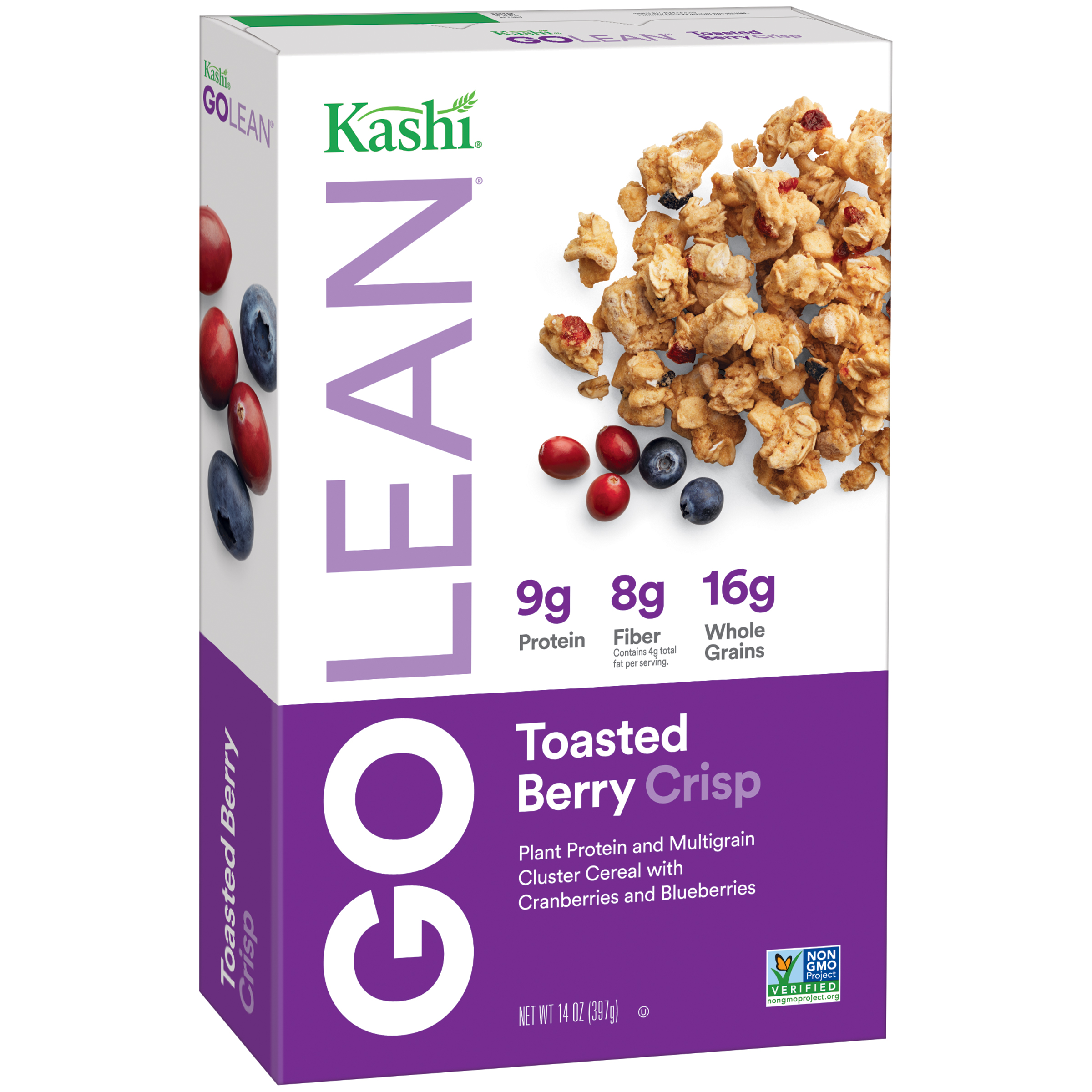 Kashi® GOLEAN Crisp!® Toasted Berry Crumble Cereal 14 oz. Box