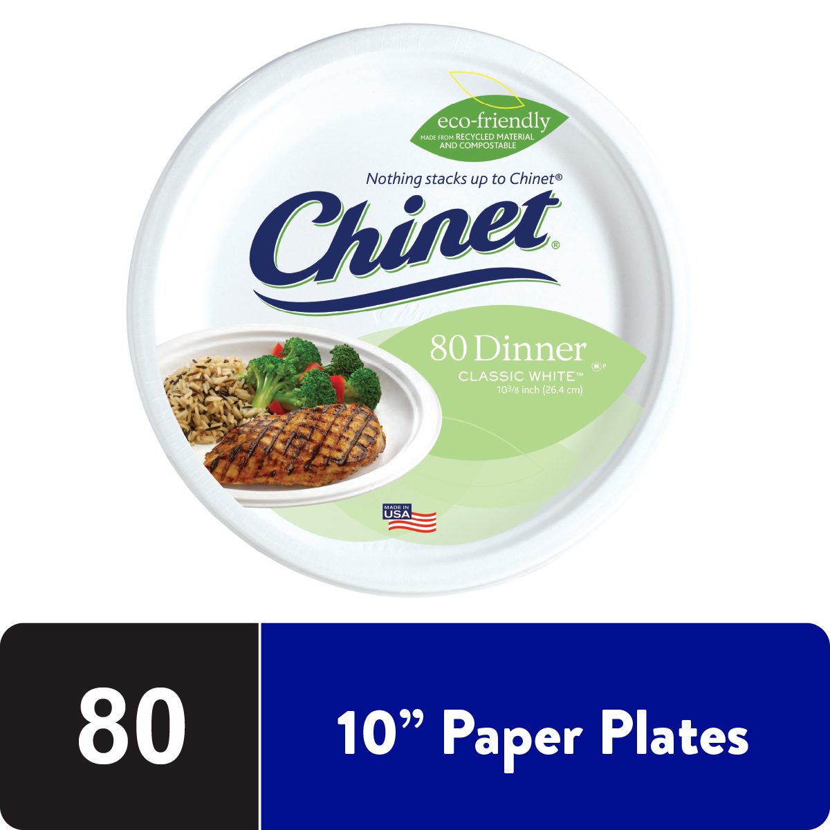 Summer Fun Large Dinner Paper Plates 8 count
