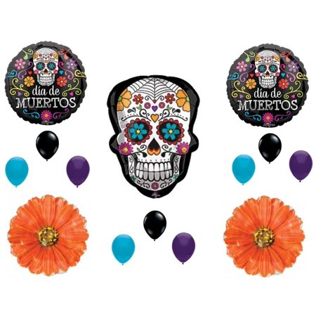 Sugar Skull Day of the Dead Birthday party Balloons Decorations Halloween (Halloween Balloons)