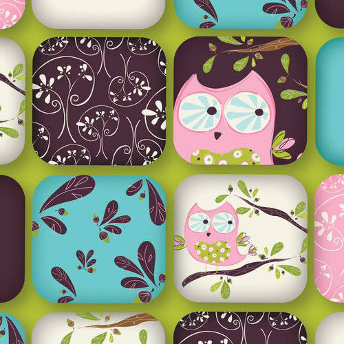 100% Cotton Fabric For Quilting And Crafting By Emma And Mila From The Hoot Hoot Collection: Owls In Green