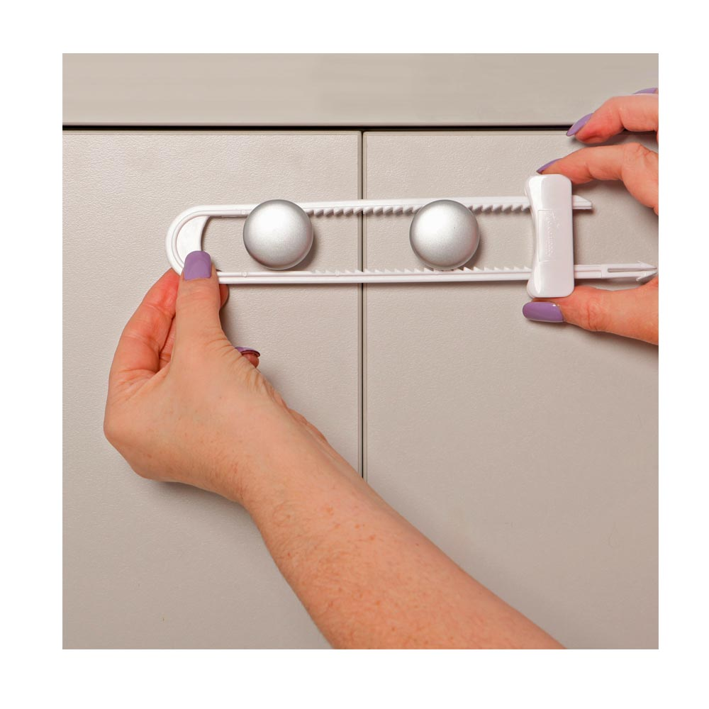 6pc Dreambaby Sliding Lock Home Safety Cabinet Cupboard Doors Child Baby Proof